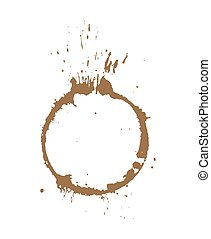 Coffee Stain Vector - Abstract Grunge Coffee Stain Vector...