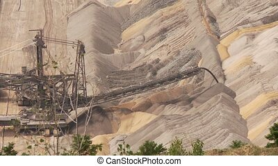 Mining bucket wheel - Video footage of a open Coal mining...