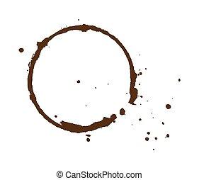 Grunge Splash Circle - Abstract Retro Grunge Splash Circle...