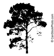 Spooky Tree - Dark Spooky Scary Dense Forest Tree Vector...