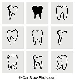 Vector teeth icon set