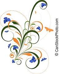 Decorative Flourish Background - Decorative Christmas...