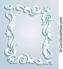 Abstract frame - Illustration of abstract frame from floral...