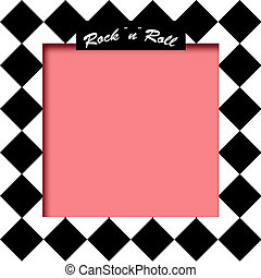 rockquot;nquot;roll poster illustration - black and white...