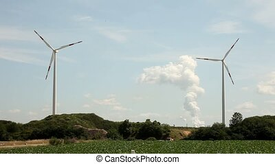 Wind Turbines - video footage of a wind turbines