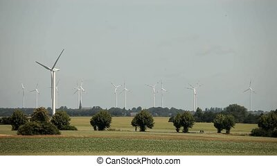 Wind Engines - video footage of a wind turbines