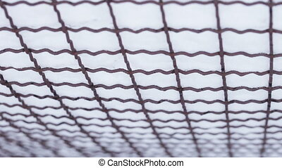 Rabitz under snow - Camera shows bottom mesh netting under...