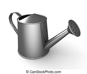 Watering can - Watering can. 3d illustration on white...