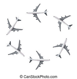 Plane Models - Plane Modes on Isolated White Background