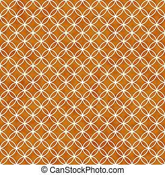 Orange and White Interlocking Circles Tiles Pattern Repeat Backg