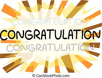 Congratulation card - Congratulation design for card
