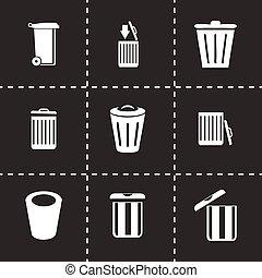 Vector trash icon set