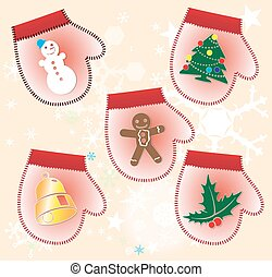 Christmas collection of Gift gloves