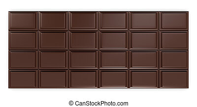 chocolate bar - closeup of a chocolate bar (3d render)