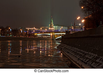 World cultural heritage site by UNESCO - Moscow Kremlin at...