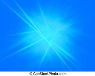 Blue light streaks background