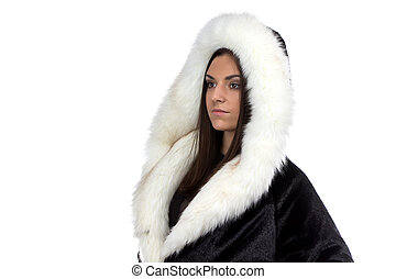 Image of the woman in fur coat