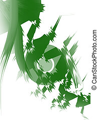 Artistic green disc image