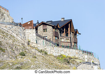 buildings high up the mountain - buildings high up the...