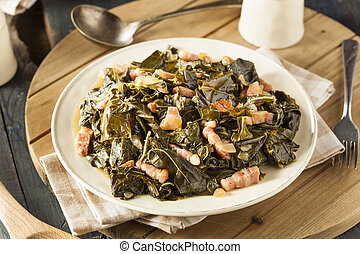 Southern Style Collard Greens with Salt Pork