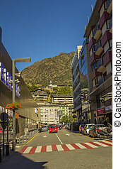 Andorra, a dwarf state located in the eastern Pyrenees...
