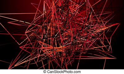 Abstract lines on a red background