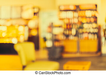 Blur coffee shop background - vintage effect style pictures
