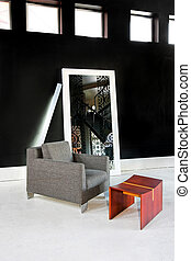 Armchair interior 2 - Interior of living room with armchair...