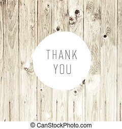 Thank You Card with Blond Wooden Background