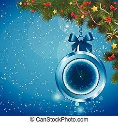 Christmas ball clock