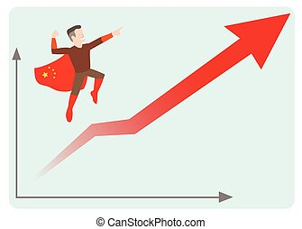 china economics rising - This is an illustration of china...
