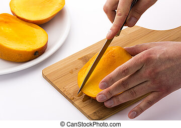 Subdivide The Three Mango Slices - This series of photos...