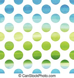 Watercolor seamless texture - Green and blue watercolor...