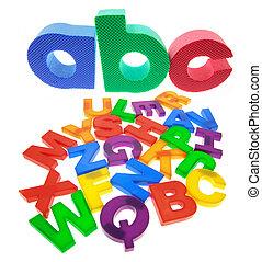 Alphabets on Isolated White Background