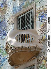 Balcony of Casa Batllo, Barcelona Spain