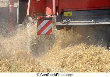 dust at harvest work