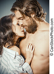 love relations - Beautiful young people in love tenderly...