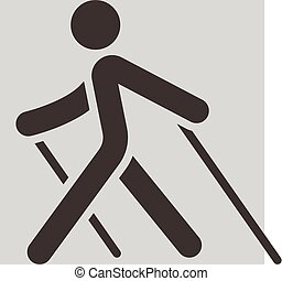 Nordic Walking icon - Summer sports icons set - Nordic...