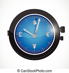 currency watches illustration design