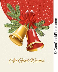 Ghristmas background. Festive bells - Ghristmas background....