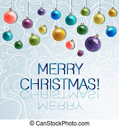 Marry Christmas and New Year greeting card - vector...