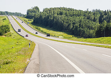 Roadway in the country in summer - Nice asphalt roadway in...