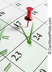 Calendar and Clock - Composite of Calendar and Clock