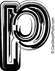 Abstract Letter p