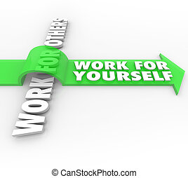 Work for Yourself Vs Others Self Employment Launch Own...