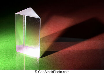 Prism - Glass Prism on Green and Red Background