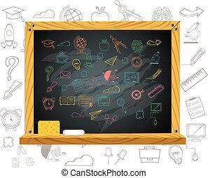 School board. Vector education