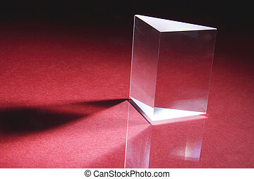 Prism - Glass Prism on Red Background