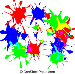 Paint splats - Fun image showing colourful pait splats