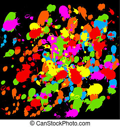 Paint Splats - Fun paint splat design in various colours
